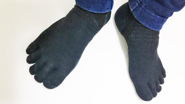 ワークマンの五本指靴下